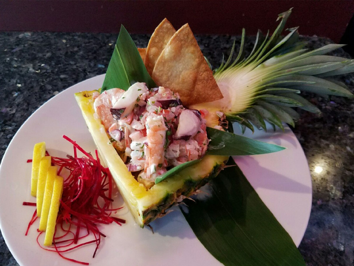 Tropical Shrimp and Octopus Ceviche
